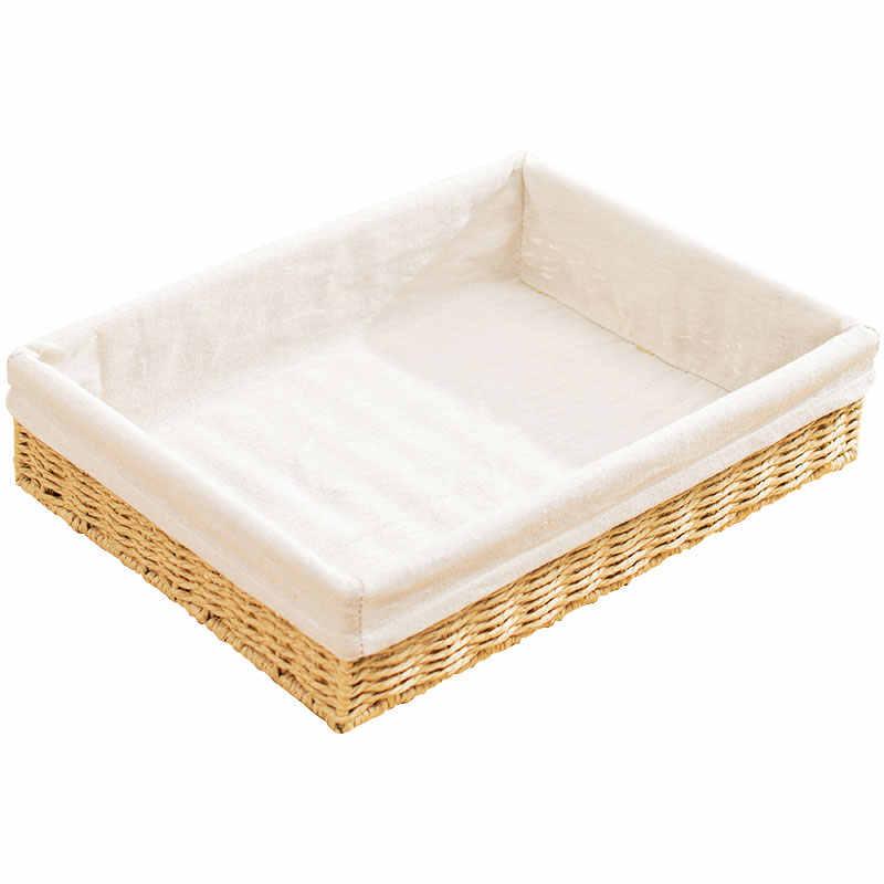 Livro da prateleira de armazenamento cesta de armazenamento cestas de palha rattan tecido chave caixas de armazenamento de mesa pequeno 7 altura cinco centímetros para sala de estar para uso doméstico