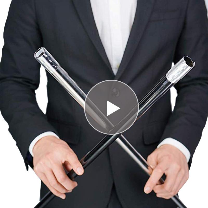 EDC Metal Magic Telescopic Stick Rod Martial Arts Magic Pocket Outdoor Car Anti-wolf Steel Wand Elastic Stick