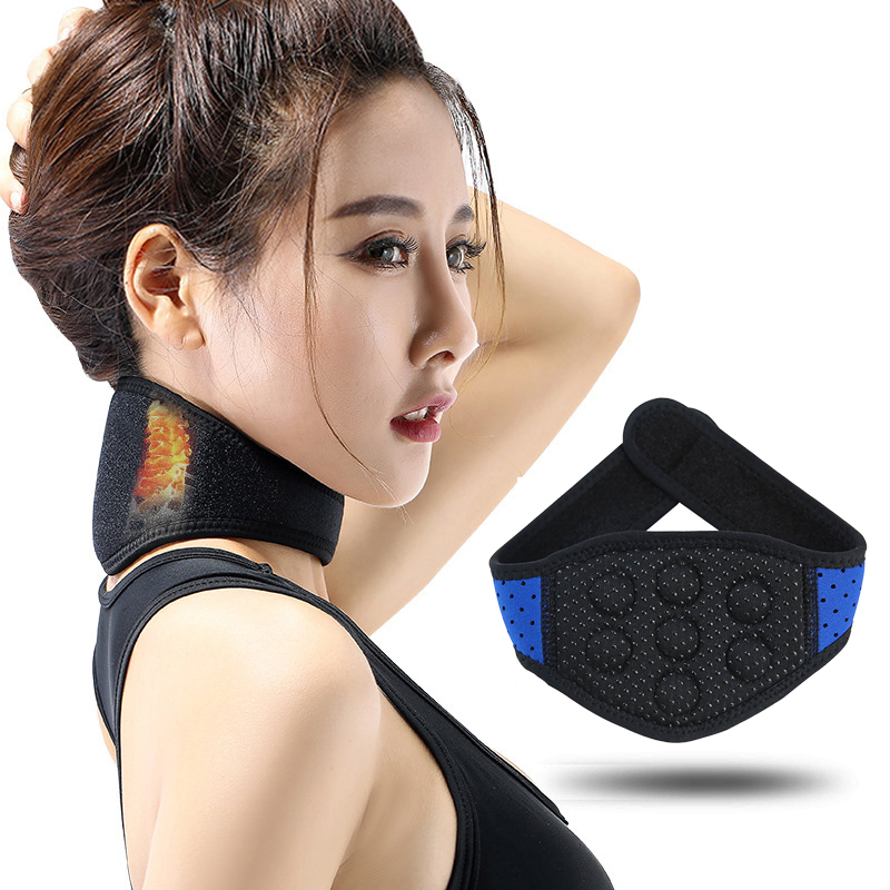 Health Care Neck Support Massager Tourmaline Self heating Neck Belt Protection Spontaneous Heating Belt Body Massager 7 Magnets in Braces Supports from Beauty Health
