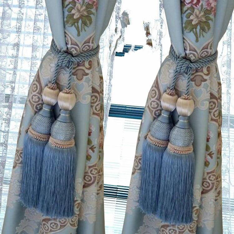 1 пара роскошный высококлассный Магнитный кристаллик для занавесок Европейский двойной шар с перекрестной шнуровкой и украшениями круглой формы аксессуары-подвески связующая лента задняя N119