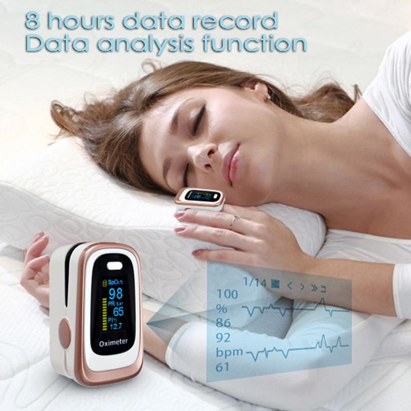 ELERA Portable Doigt Oxymètre de Pouls SPO2, PR, ODI4, PI Du Bout Des Doigts Oxymètre de Pulso de Dedo en Oxygène du Sang Saturometro
