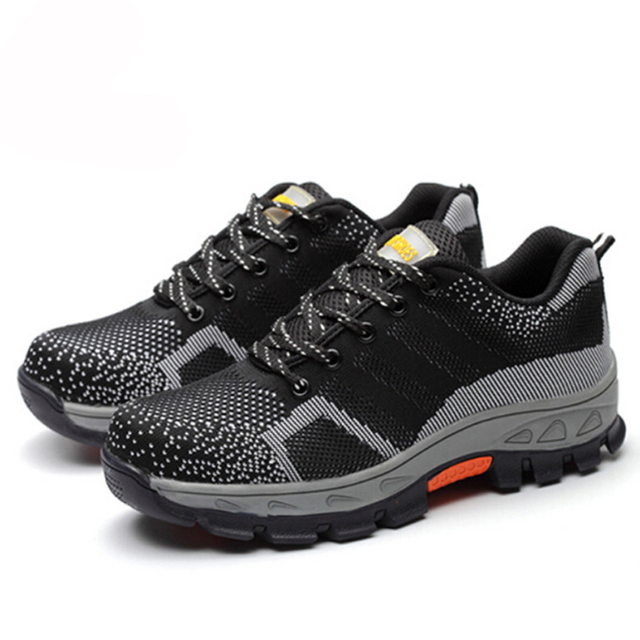 Casual Mesh Breathable Fashion Steel Toe Safety Mens Shoes 4