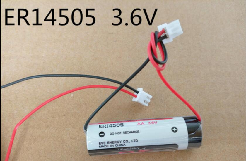 NEW ER14505 14505 lithium battery AA 3.6V 2700mah Water meter PLC control in Li-ion batteries plug 1pcs/lot