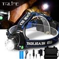 10000LM pesca faro V6 L2 LED faro Zoomable Camping linterna de la lámpara de la cabeza linternas lámpara 3 luz de modo 2*18650 batería