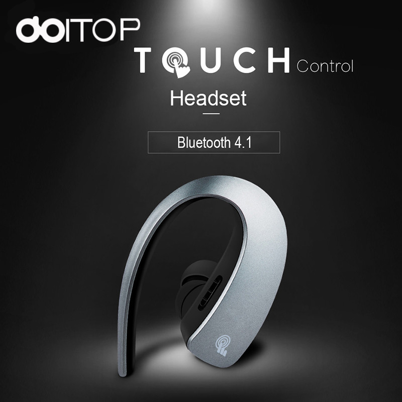 DOITOP Touch Control Mini Headphone Wireless Headset Bluetooth Inear Earphone Super Bass Earbuds Handsfree Mic for Cell Phone