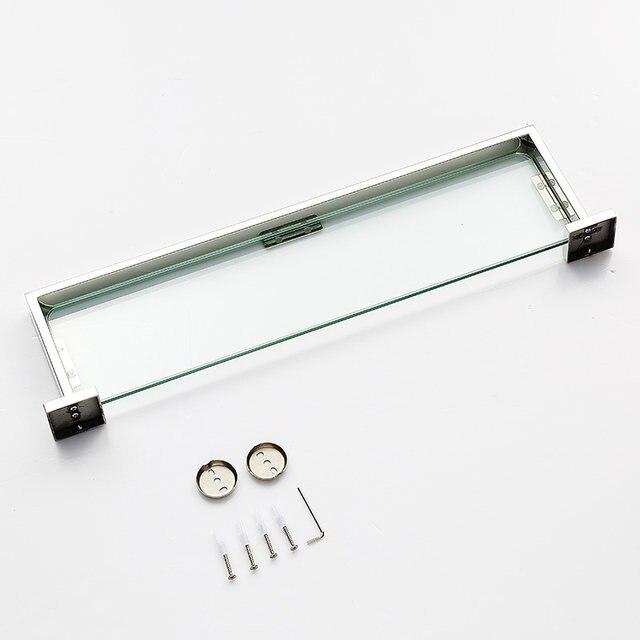 Online Shop BLHTZ05 Glass Bathroom Shelves Shampoo Holder Stainless ...
