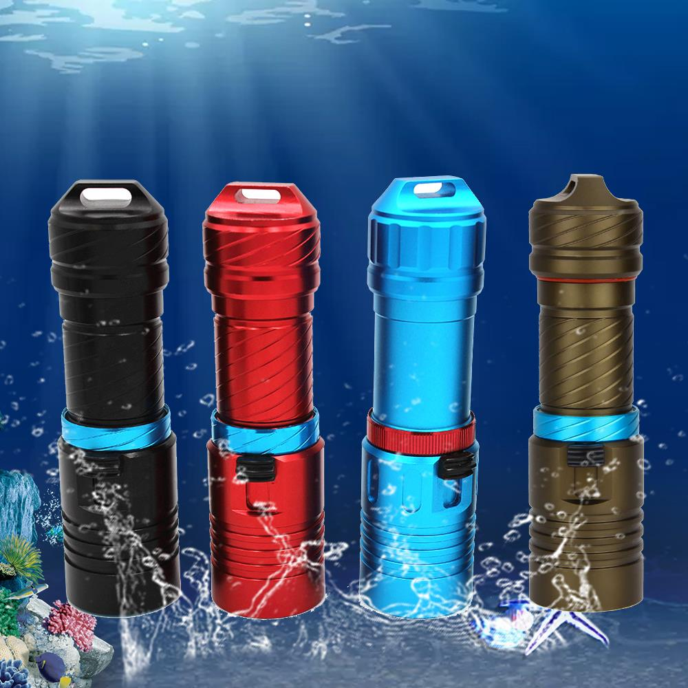 Image 3 - 15000 Lumens L2 Professional Diving flashlight Scuba Torch LED 200M Underwater Flashlights led Powerful Dive lamp 18650 or 26650-in LED Flashlights from Lights & Lighting