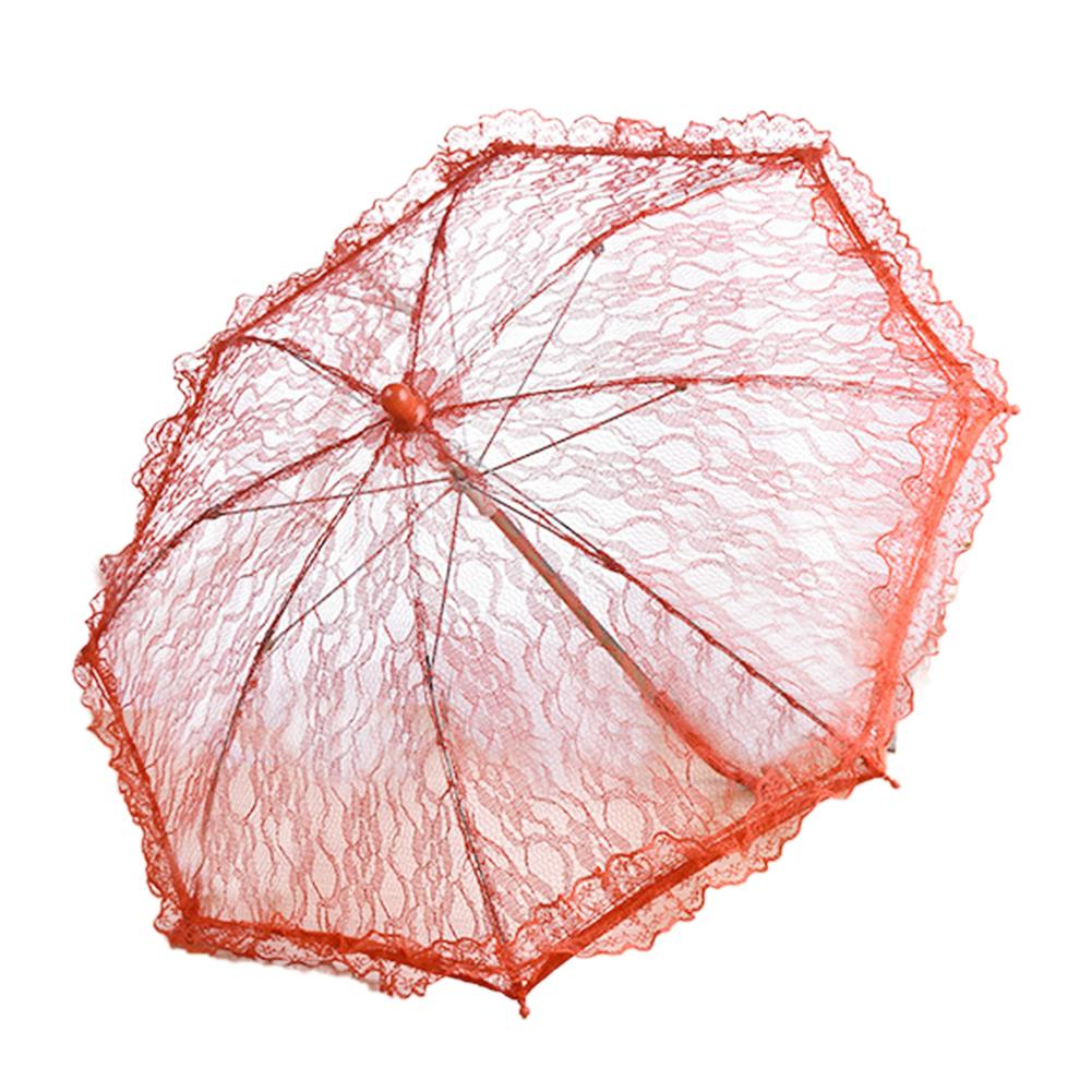 Image 5 - Wedding Flower Girl Lace Umbrella European And American Style Bride Decoration Umbrella Trumpet Photography Props-in Umbrellas from Home & Garden