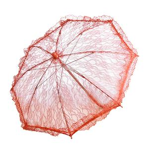 Image 5 - Wedding Flower Girl Lace Umbrella European And American Style Bride Decoration Umbrella Trumpet Photography Props