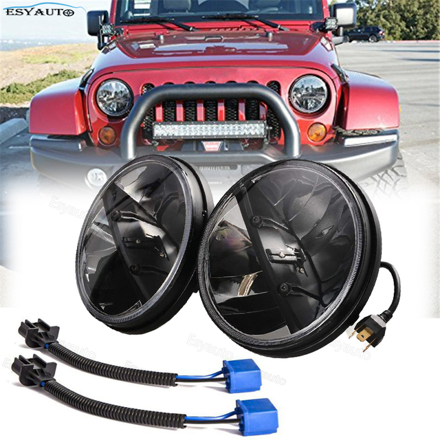 1 pair 7inch 30W High low beam Led Headlight with day running light&Turn Signal for Jeep Wrangler