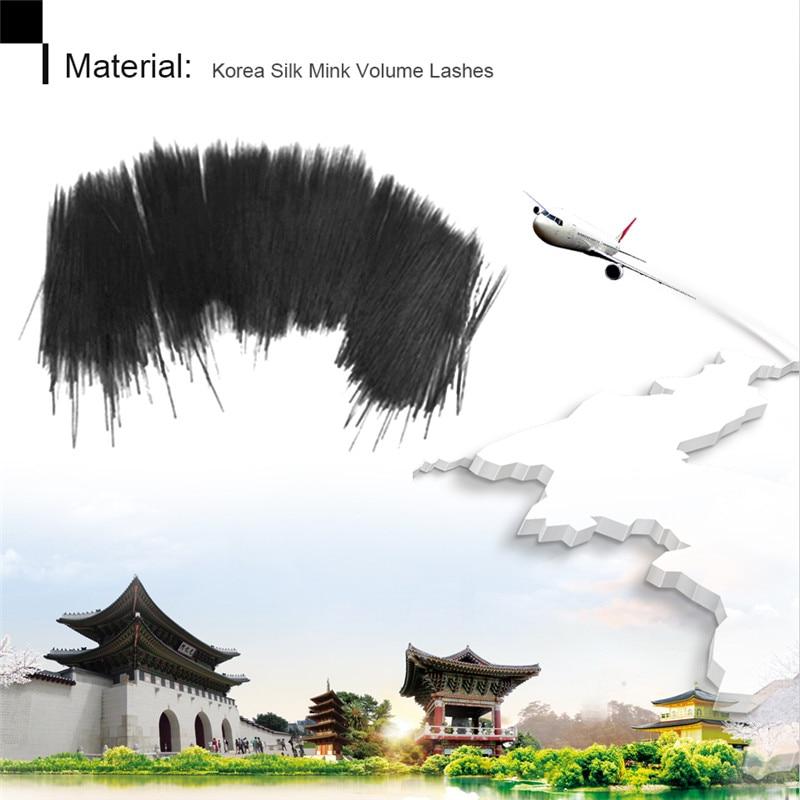 Thinkshow 10Pcs Individual Silk Volume Ryssland 3D Lash Korea Slik - Smink - Foto 5