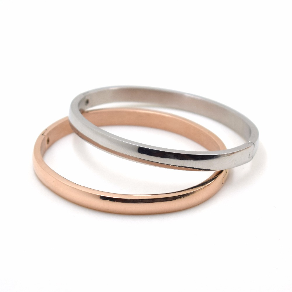 2018 Rose Gold Stainless Steel Lover bracelet couple titanium bangle Slide Carter Bangle Cuff Bracelet Valentine gift