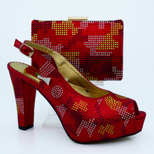 2016 new design Italian Shoes With Matching Bags African Women Shoes and Bags Set in wine