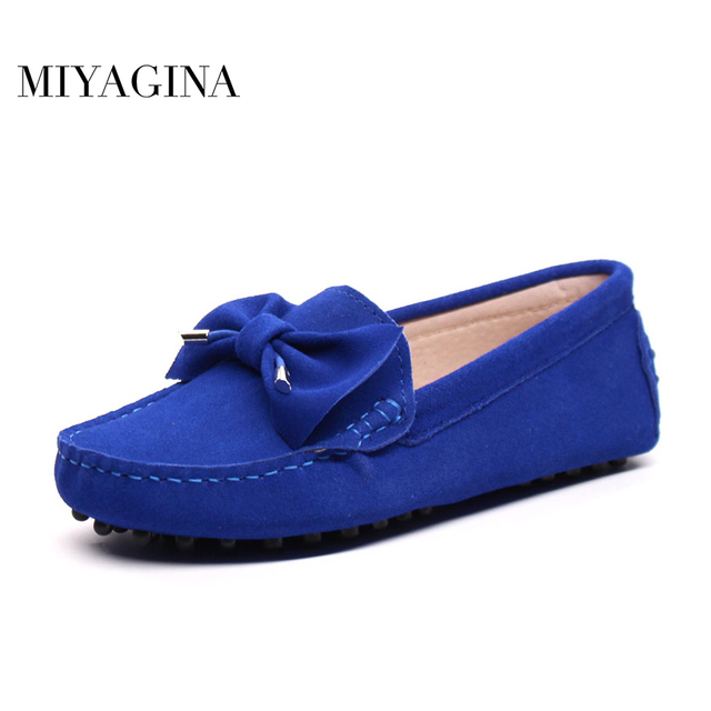 MIYAGINA High Quality 100% Genuine Leather Women Shoes Fashion Women Flats Loafers Brand Slip On Casual Driving Shoes