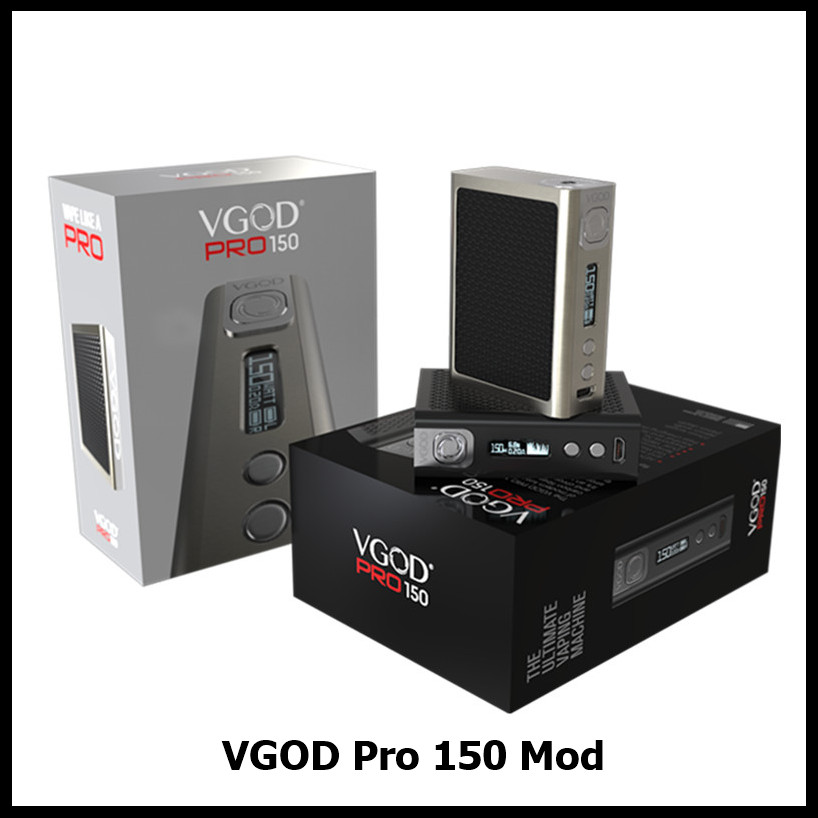 Original VGOD Pro 150W TC Box Mod Pro150 Electronic Cigarette Vape Mod Powered by Dual 18650 for Vapers VS Joyetech Cuboid 150W
