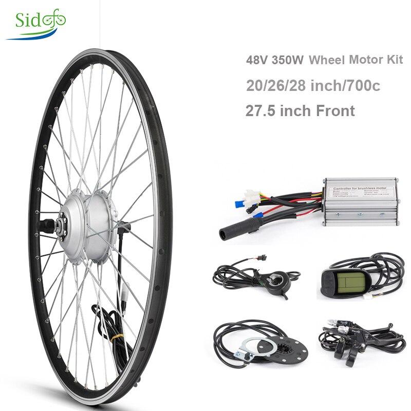 Kit de Conversion de vélo 48 V 350 W DC Gear moteur de moyeu sans brosse moteur de vélo électrique de montagne 20