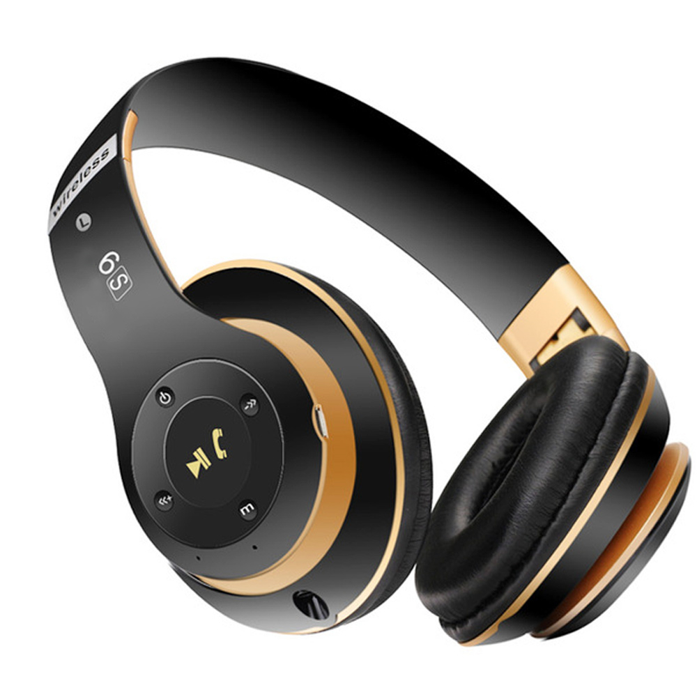 New <font><b>S6</b></font> <font><b>Wireless</b></font> <font><b>Bluetooth</b></font> <font><b>Headphones</b></font> Headset with Microphone Earphone For Tablet TV PC Mobile phones Soft Protein Earpads image