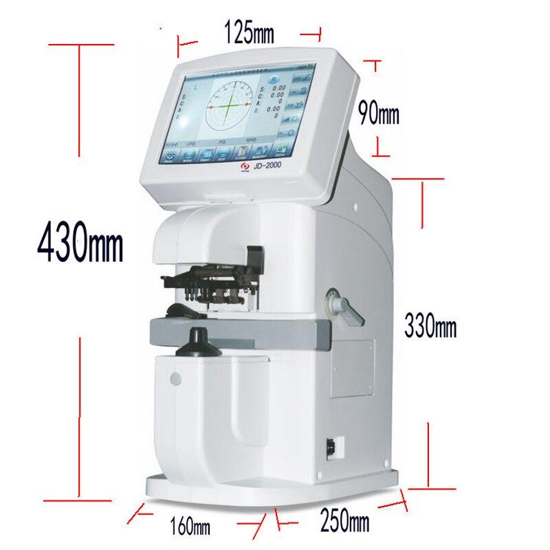 JD-2000B ordinateur compteur de puissance écran tactile ordinateur focomètre lunettes équipement Instrument Intelligent système d'exploitation