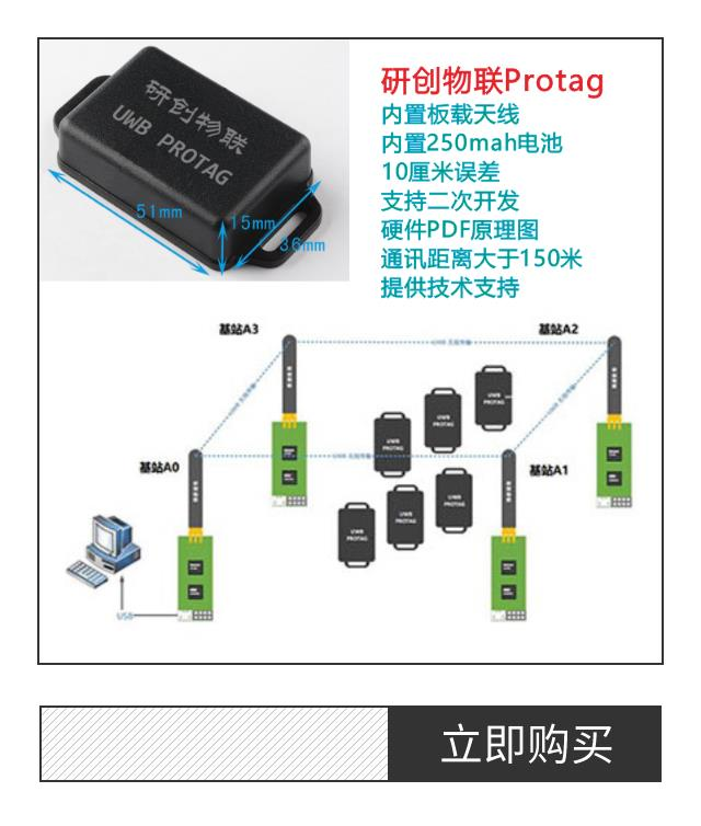 UWB Positioning Module UWB Module UWB Indoor Positioning ProTag With Lithium Battery 3 Dimensional Positioning Belt Shell
