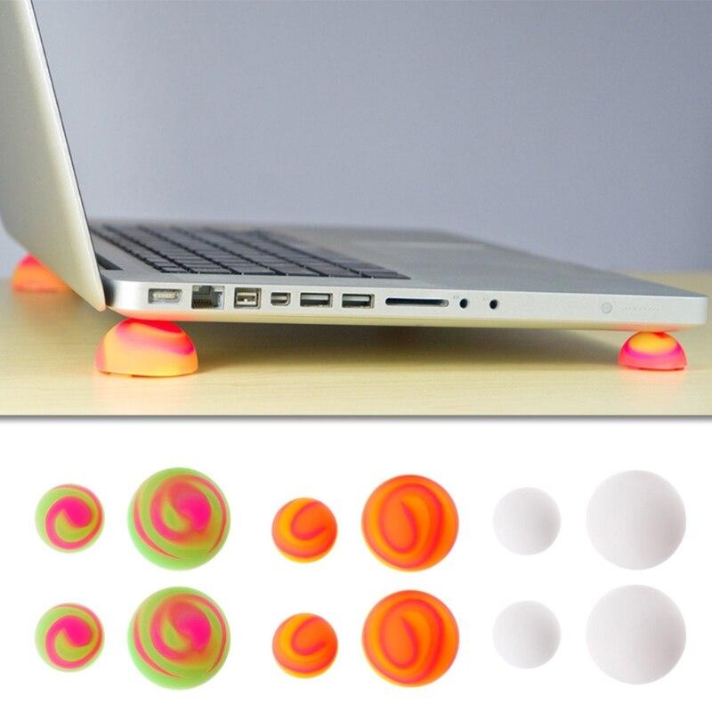 Gemotiveerd Nieuwe Kleuren Notebook Laptop Cooling Cooler Stand Bal Voeten Antislip Been Skidproof Pads Hot Warm En Winddicht