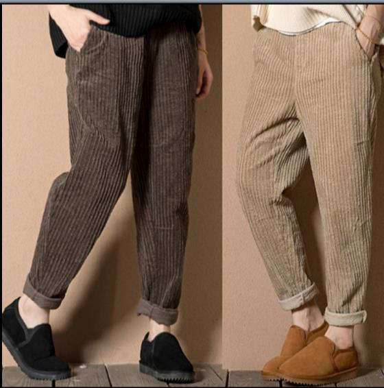 4307632f3f6 Detail Feedback Questions about Mori Girl Autumn Winter Casual Loose Harem  Pants Women Solid Elastic Waist Corduroy Harem Pants Plus Size Z892 on ...