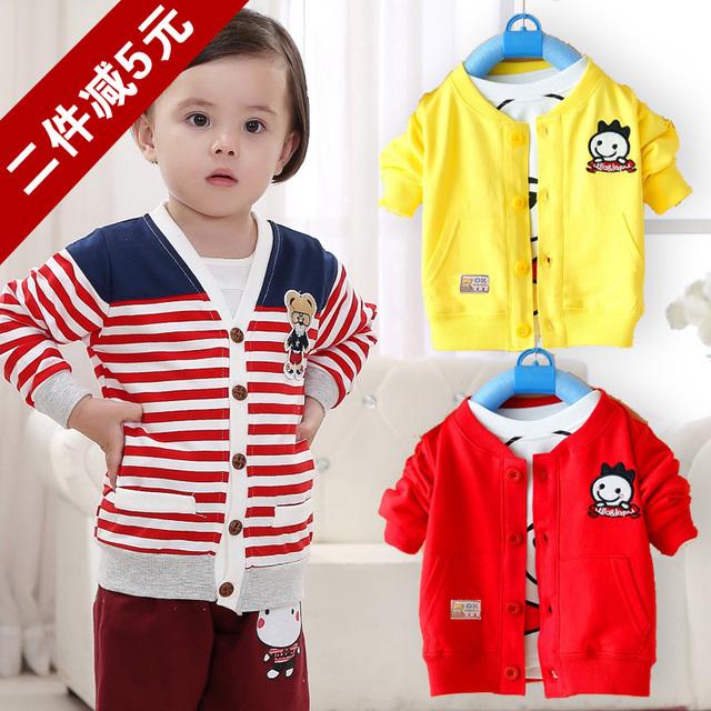 Bebé ropa de Bebé de las muchachas Sudadera de algodón Niños outwear 2016 Primavera y Otoño Gato ropa Para Niños Ropa de Niños