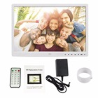 Digital Photo Frame Electronic Album 15 Inches Front Touch Buttons Multi-language LED Screen Pictures Music Video