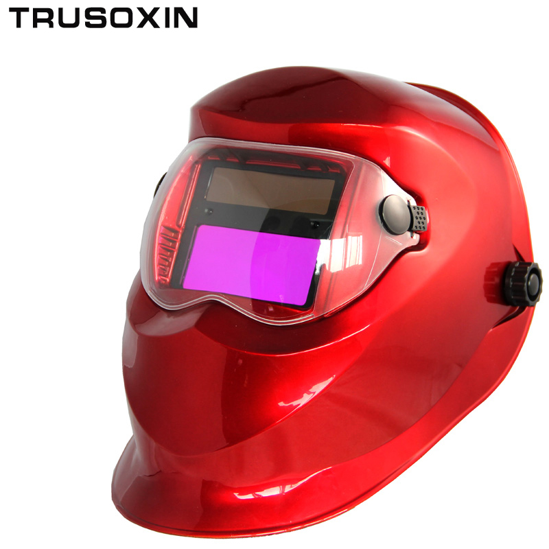 Solar Auto Darkening Welding Helmet/Welding Mask/Welder Goggles/Eye Mask/Shading Goggles for TIG MMA MIG Welding Machine Welder fire flames auto darkening solar powered welder stepless adjust mask skull lens for welding helmet tools machine free shipping