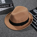 New Fashion All Season High Quality Beach Jazz Hats Women Cap Men Hard Felt Fedora Panama Bowler Wide Brim Gangster Caps