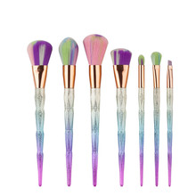 7pcs Diamond Shape Rainbow Handle Makeup Brushes Set Foundation Powder Blush EyeShadow Lip Brush kwasten Beauty