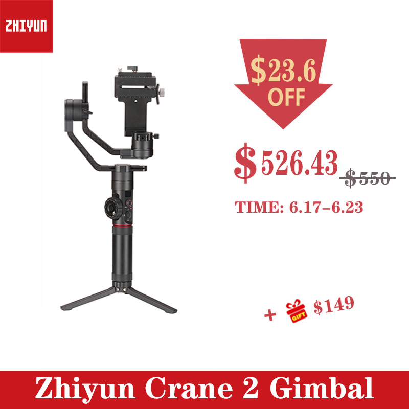 Zhiyun Crane 2 gimbal 3-Axis DSLR 3.2KG bear Camera Stabilizer withfollow focus for DSLR Mirrorless Camera Canon PK MOZA DJIZhiyun Crane 2 gimbal 3-Axis DSLR 3.2KG bear Camera Stabilizer withfollow focus for DSLR Mirrorless Camera Canon PK MOZA DJI