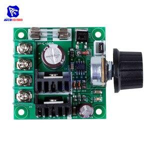 Image 3 - Diymore dc 12  40 v 10A pwm dc モータ速度制御スイッチコントローラモジュール電圧レギュレータ調光器/w ヒューズロータリーポテンショメータ