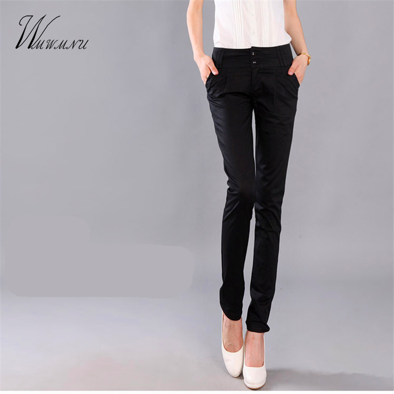 U05deu05d5u05e6u05e8 - Trousers With Pockets Women 2017 Autumn Casual OL Formal Pants Women Elegant Office ...