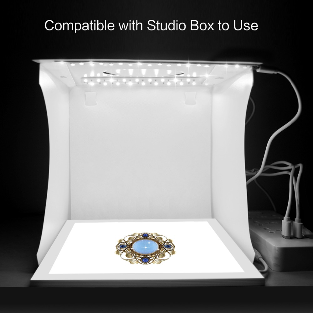 PULUZ 22.5 Photo Box LED Light Photography Foldable Studio Shadowless Lamp Bottom Light Panel Studio Softbox Lightbox Lighting