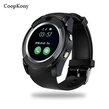 Coopkony New Bluetooth Smart Watch SIM TF card camera font b SmartWatch b font For Android