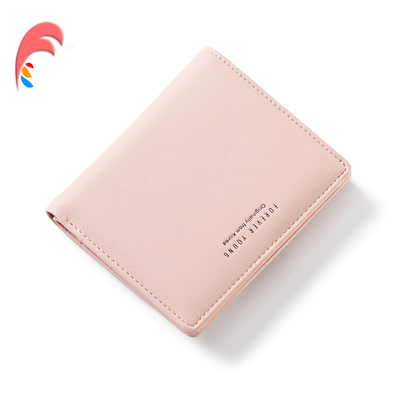 WEICHEN Slim Wallet Lovely Leather Zipper Women Wallet Female Fashion Lady Thin Small Solid Color Change Girl Mini Purse Clutch fashion colorful lady lovely coin purse solid golden umbrella clutch wallet large capacity zipper women small bag cute card hold