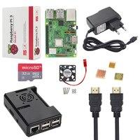 Nouveau Raspberry Pi Modèle B + Kit + 16 3 32 GB SD Carte + Cas + Ventilateur + 2.5A puissance Adaptateur + Câble HDMI + Dissipateur de Chaleur RPI 3 B Plus B +