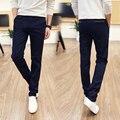Outono 2017 dos homens novos negócios calças de algodão casual calças dos homens de conforto calças além de código de tamanho 28-36 quatro cores Frete grátis