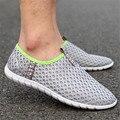 2017 nuevos Hombres casual Walking zapatos de malla transpirable hombres zapatos de la marea versión Coreana de un pedal zapatos perezosos zapatillas deportivas hombre
