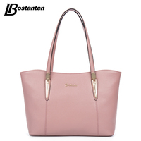BOSTANTEN Large Tote Bag Real Genuine Leather Bags Women 2016 Famous Brand Ladies Handbag Designer Causal