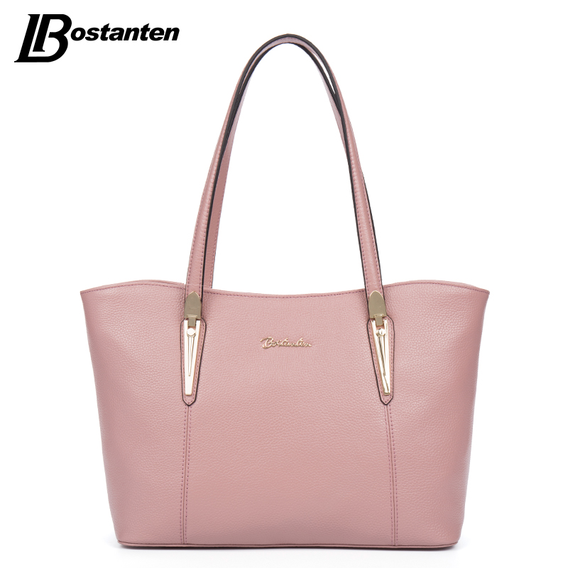 BOSTANTEN Large Tote Bag Real Genuine Leather Bags Women 2017 Famous Brand  Ladies Handbag Designer Causal Women Shoulder Bag