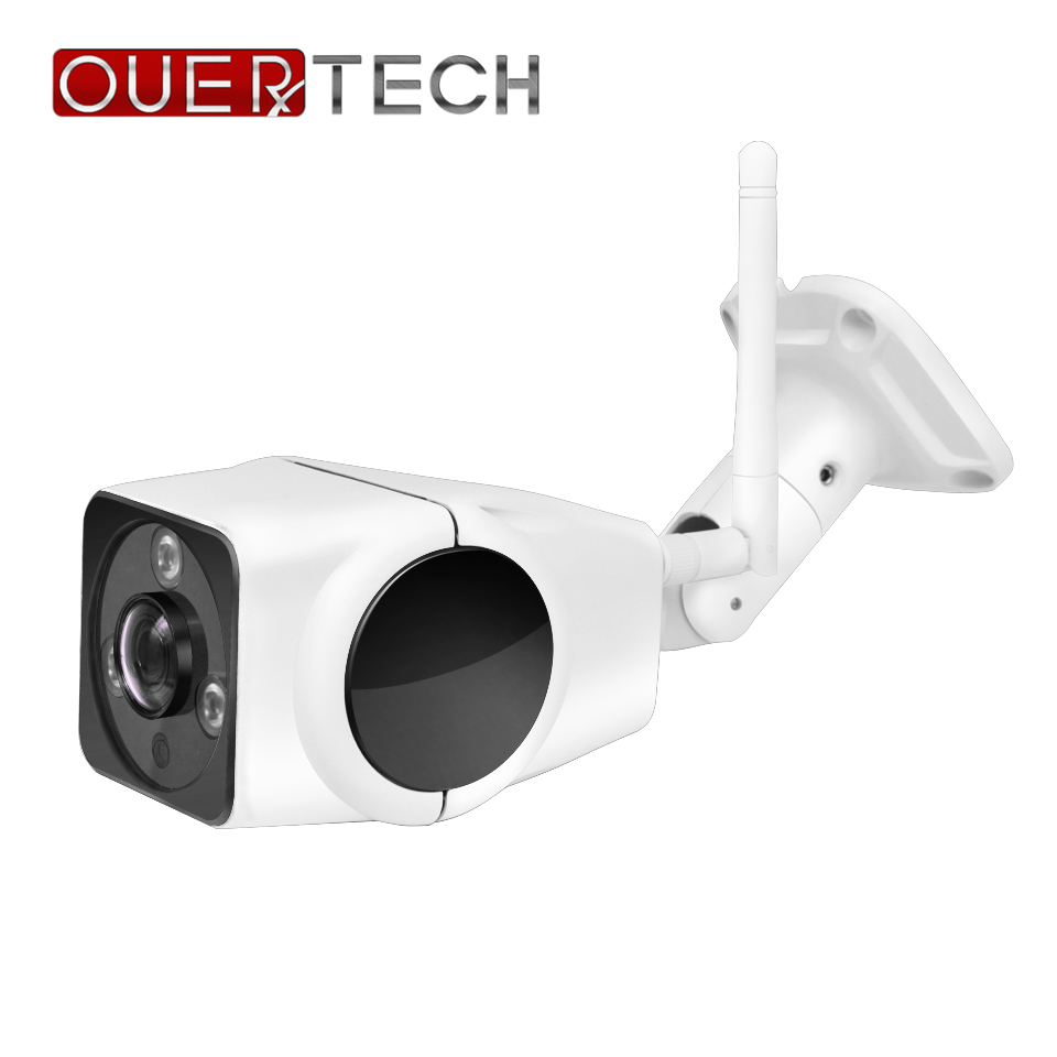 OUERTECH 180 Degree Panoramic 1080p 2.0MP Fisheye  Waterproof IR Night Vision Outdoor WIFI Smart Bullet Camera  Support 64