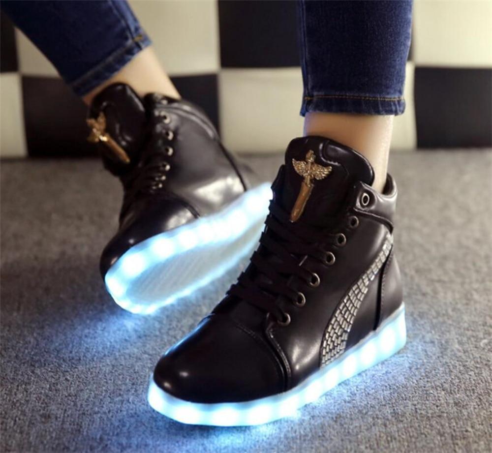 2548d6d63b76 ... Mans luminous glow shoes men led boots fashion usb rechargeable jpg  1000x921 Led boots a few ...