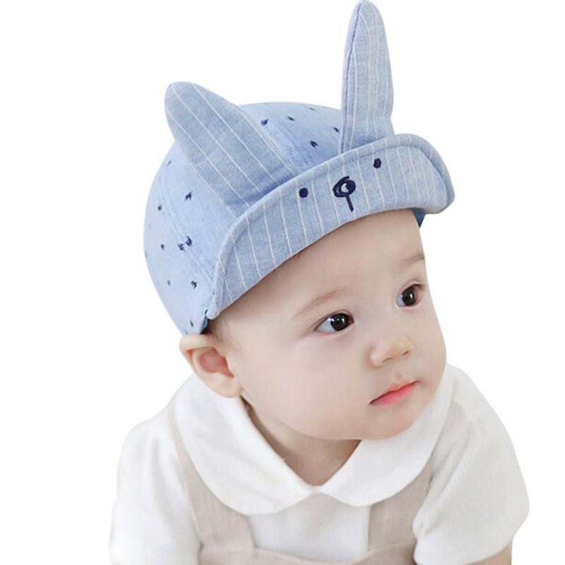 2017 New Baby Boys And Girls Beanies Summer Cotton Caps Girls Visors Baby Hat With Ears Fit For 6M-12M P1