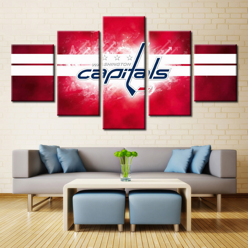 4dfb85a230e New Arrival NHL Ice Hockey Washington Capitals Sport Team Wall Art for Home  Decor Oil Painting Canvas Waterproof Eagle-in Painting   Calligraphy from  Home ...