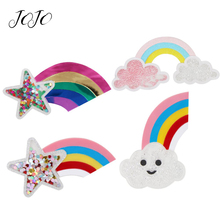 JOJO BOWS 1pc Flatback Resin Patches For Apparel Cloud Rainbow Pentagram Quicksand Accessories Crafts Home Textile Stickers
