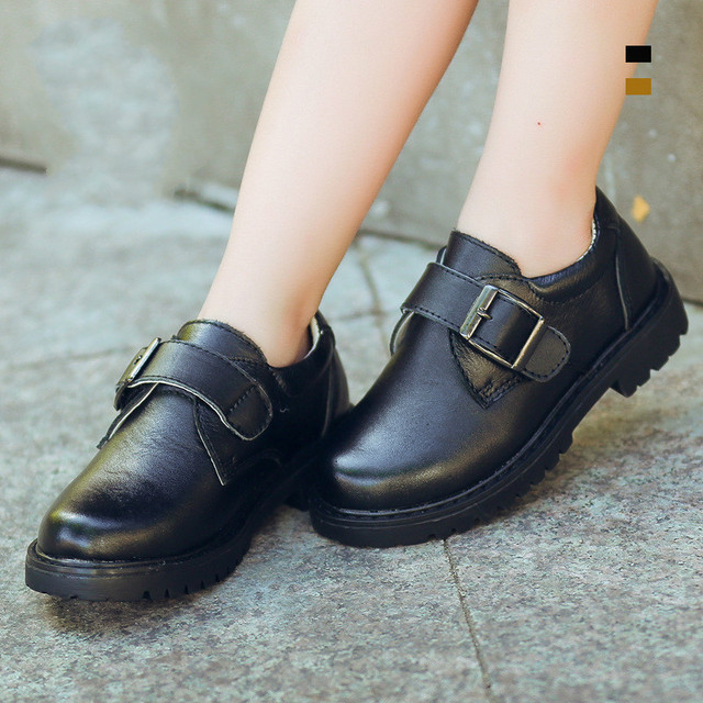 Moccasins Kids Autumn Baby Boys Oxford Shoes for Children Dress Boots Girls Fashion Martin Boots Toddler Pu Leather Boots Black