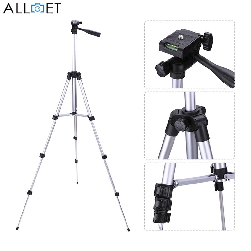 ALLOET 650mm Portable Professional Camera Tripod Stand With 1/4