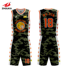 Zhouka Design Basketball Jersey Uniform Blank Custom For Men Boys Team Club Maillot Homme Us T Shirts