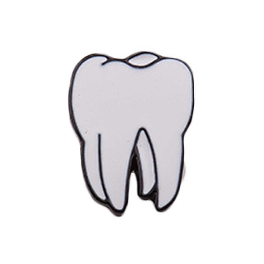 Цинковый сплав, эмаль глаз зубы мозг Броши с сердечком контакты 1 PC органы человеческого тела для женщин ювелирные изделия иглы нагрудный знак брошь воротник